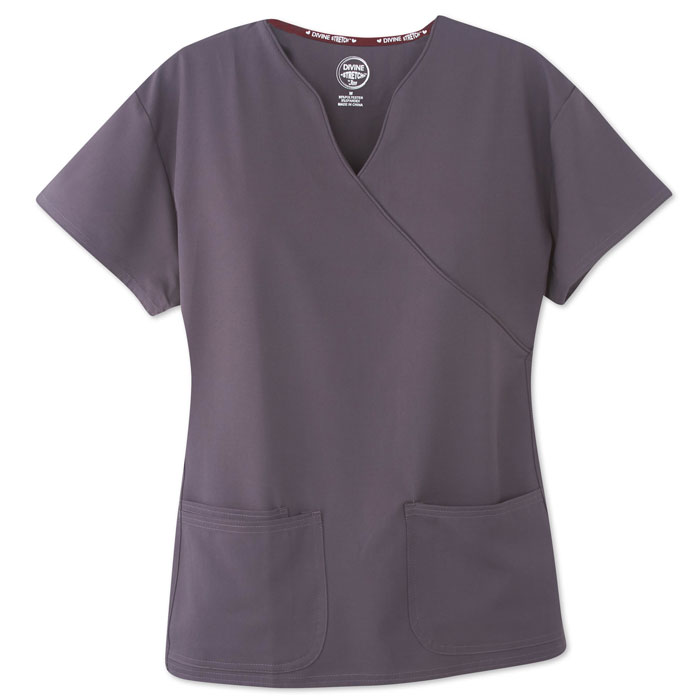 Divine-Stretch-Scrubs-5202-Mock-Wrap-Scrub-Top