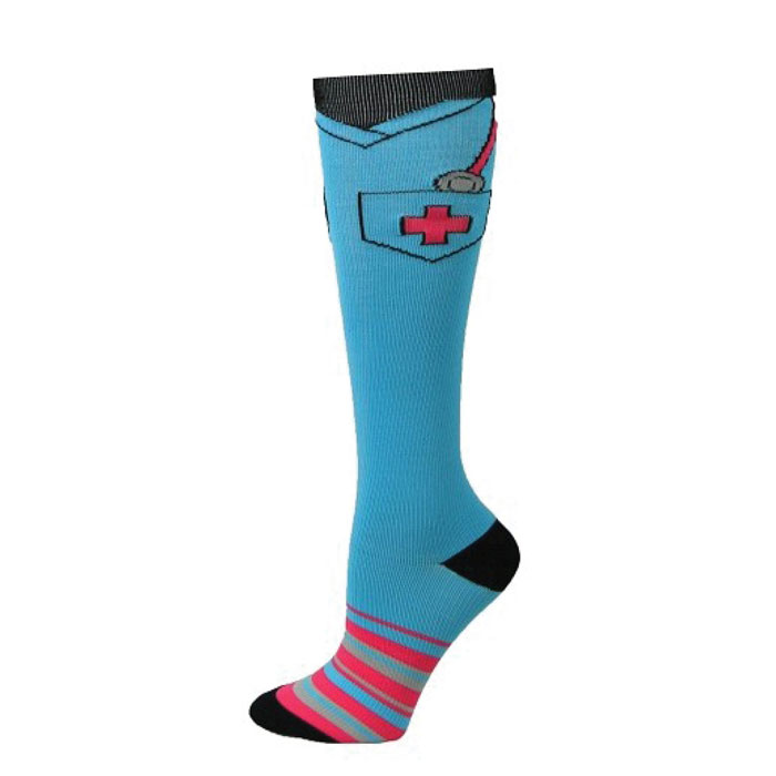 Think-Medical-Supply-94663--Scrub-Top-Fashion-Compression-sock