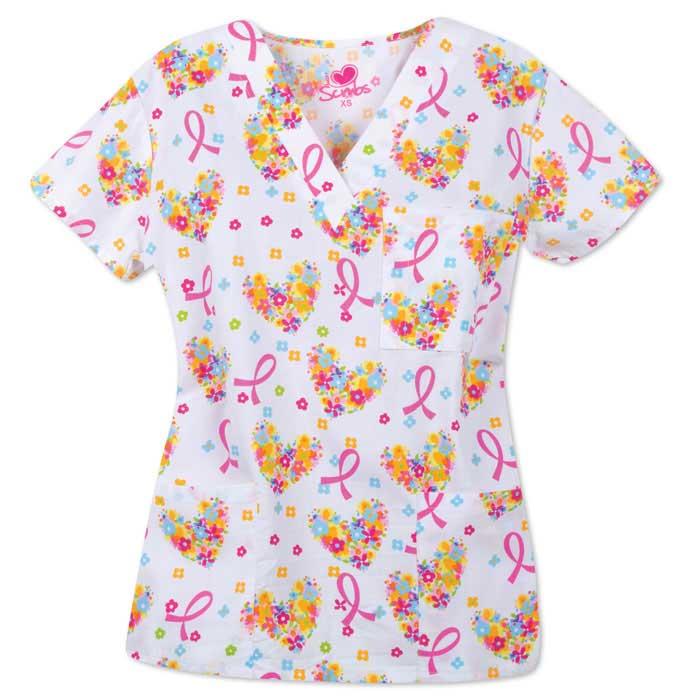 9904-1450-Ladies-3-Pocket-V-Neck-Top-Precious-Gift