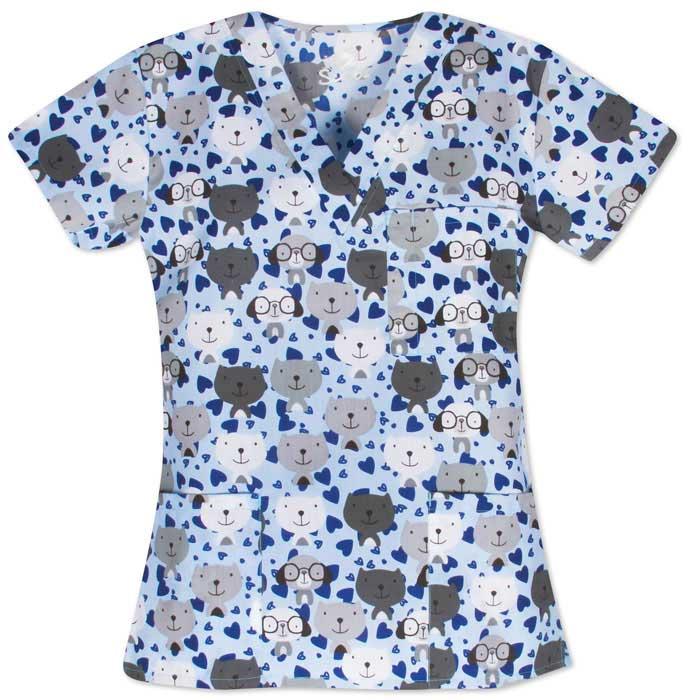 9904-1532-Ladies-3-Pocket-V-Neck-Top-Looking-Good
