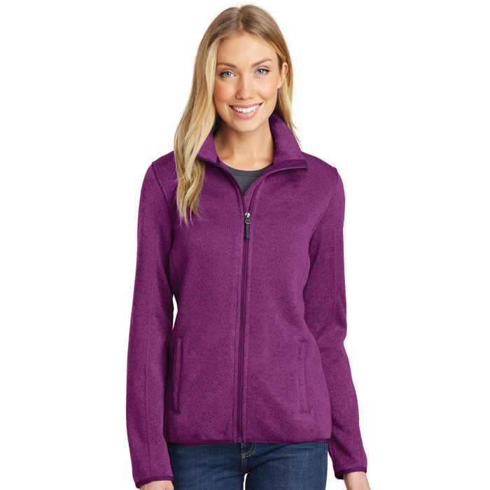 Port-Authority-L232-Womens-Sweater-Fleece-Jacket