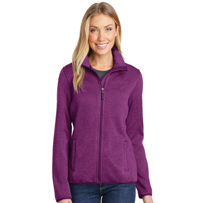 Port-Authority-L232-Womens-Sweater-Fleece-Jacket