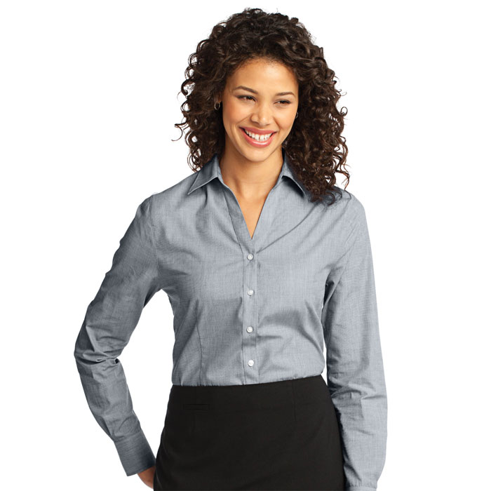 Port-Authority-L640-Ladies-Crosshatch-Easy-Care-Shirt