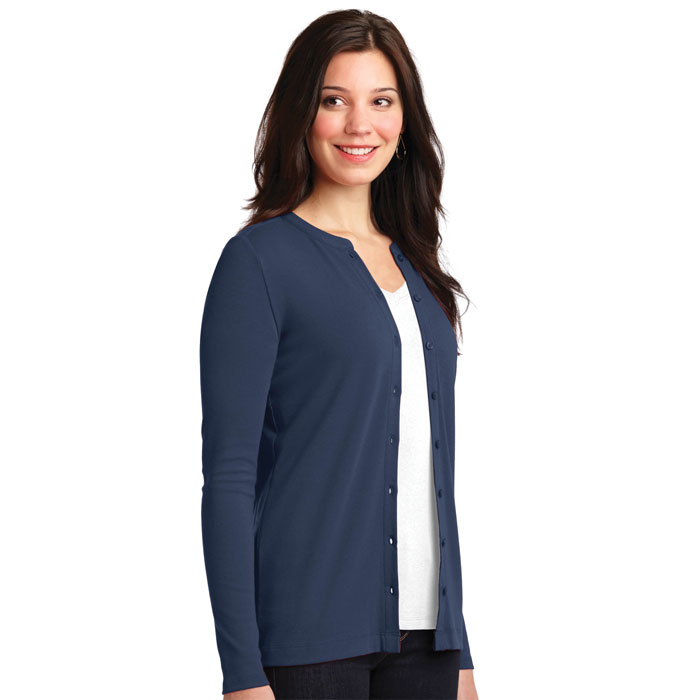 696ce87edcb7 Port Authority, LM1008, Ladies Concept Stretch Button-Front Cardigan.  Complete the look