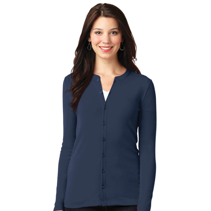 Port Authority, LM1008, Ladies Concept Stretch Button-Front Cardigan