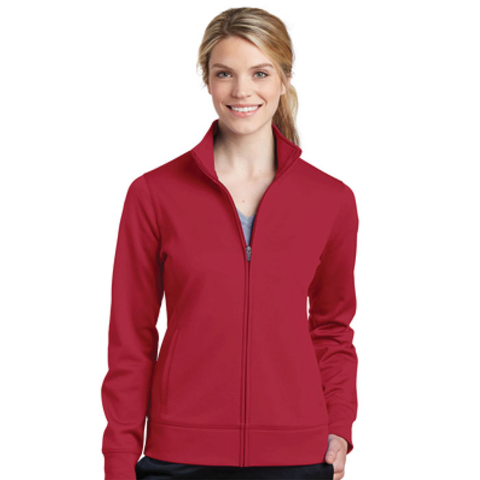Sport-Tek-LST241-Ladies-Sport-Wick-Fleece-Full-ZIp-Jacket