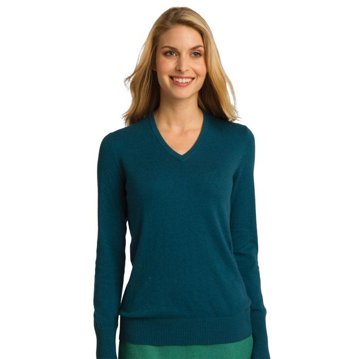 Port-Authority-LSW285-Ladies-V-Neck-Sweater