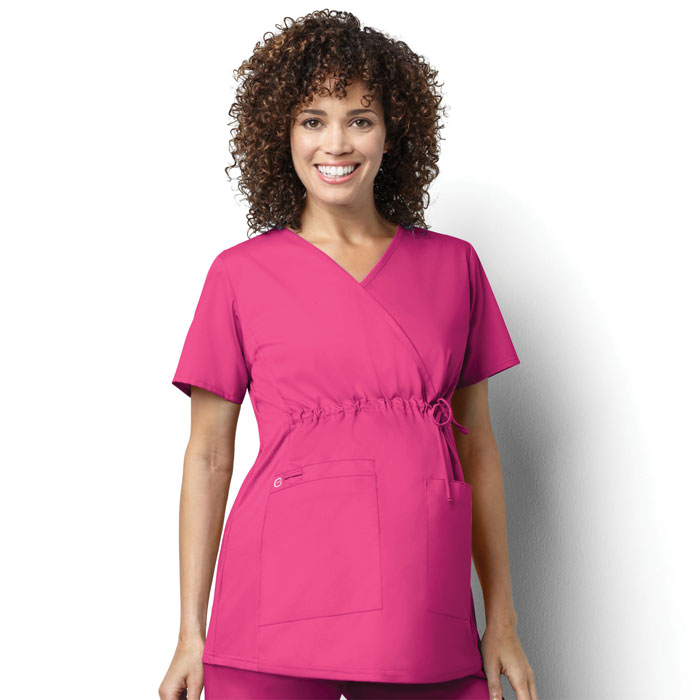 5bb6af43301 WonderWORK-145-Womens-Maternity-Mock-Wrap-Top-
