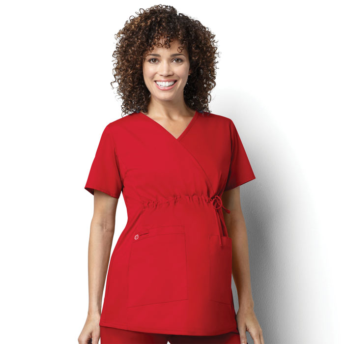 WonderWORK-145-Womens-Maternity-Mock-Wrap-Top-