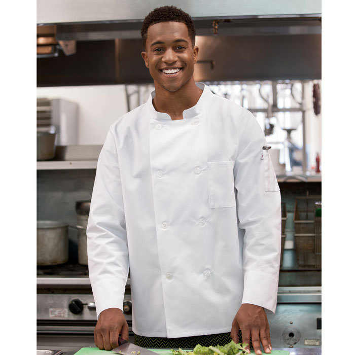 Five-Star-18017-Long-Sleeve-Moisture-Wicking-Mesh-Back-Chef-Coat
