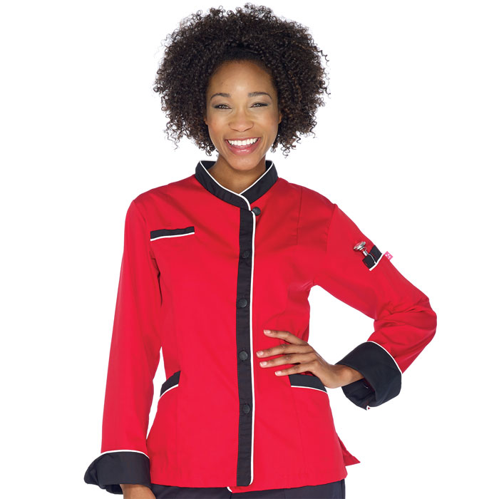 Five-Star-18038-016-Ladies-Executive-Chef-Coat-with-Mesh-Back-Vent