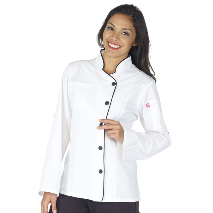 Five-Star-18504-011-Ladies-Long-Sleeve-Stretch-Executive-Chef-Coat