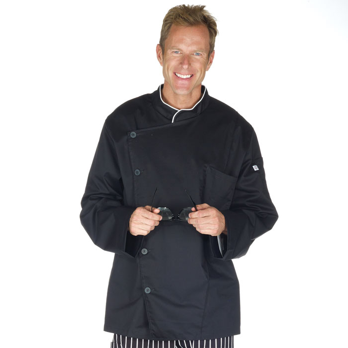 Five-Star-18535-015-Long-Sleeve-Stretch-Executive-Chef-Coat