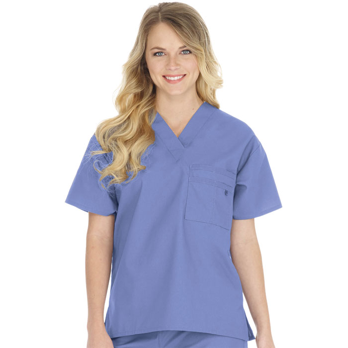 Scrubfinity-3100-Soft-Brush-Unisex-V-Neck-Top-with-Triple-Chest-Pocket