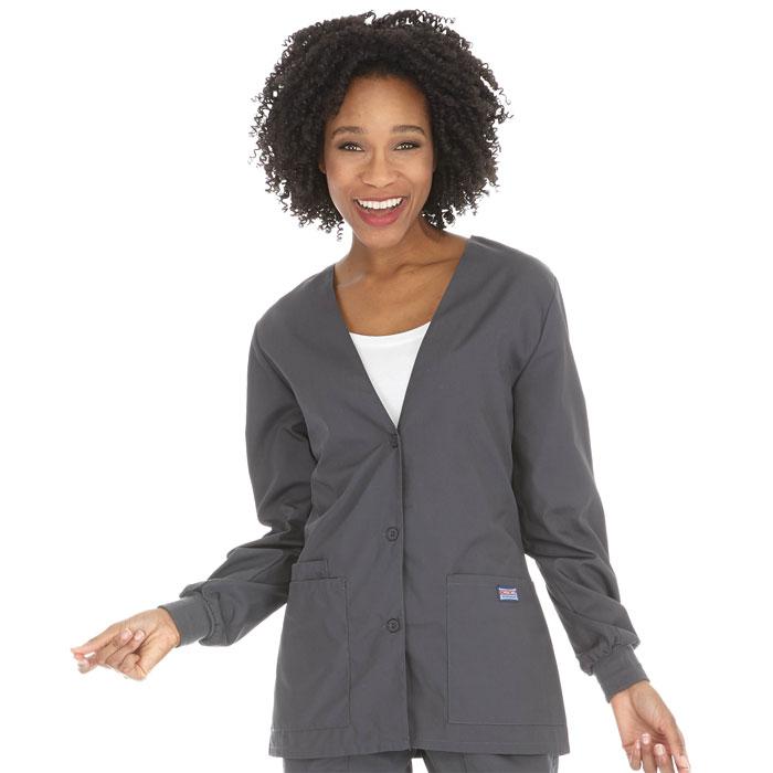 fdd2b651071 Cherokee Workwear - Cardigan Warm-Up Jacket
