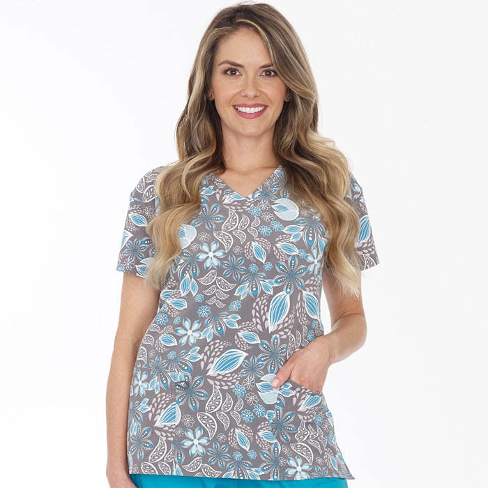 5284-1561S-Ladies-V-Neck-Top-Evening-Floral