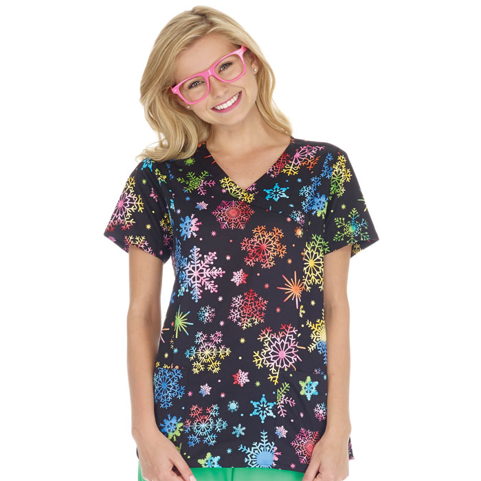 bio---bring-it-on-5372-3226-Mock-Wrap-Top-Rainbow-Snowflakes