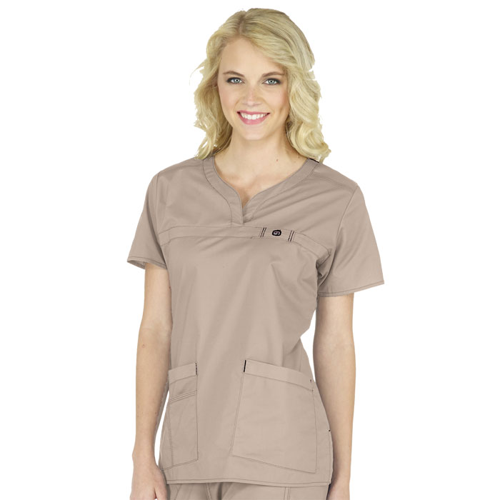 WonderFLEX, 6208, Patience Curved Notch Neck Scrub Top