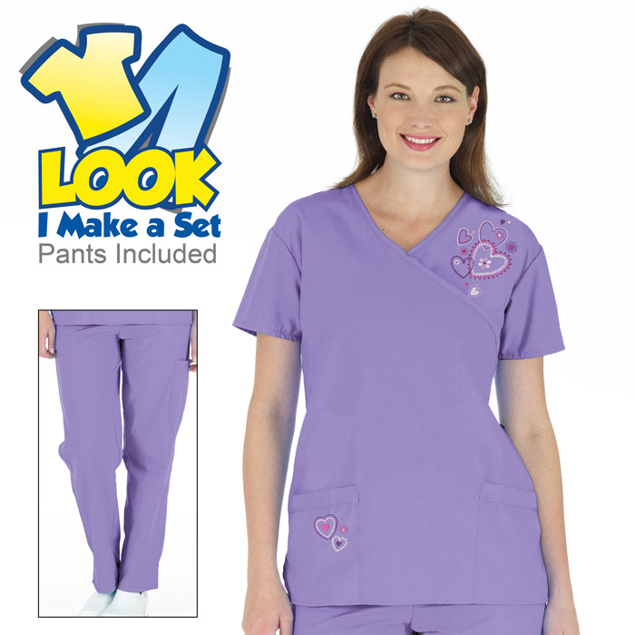 7080-1051-Embroidered-Hearts-Scrub-Set-Lilac