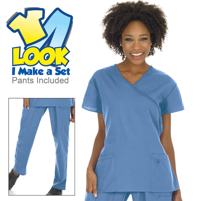 755-Ladies-Mock-Wrap-Scrub-Set