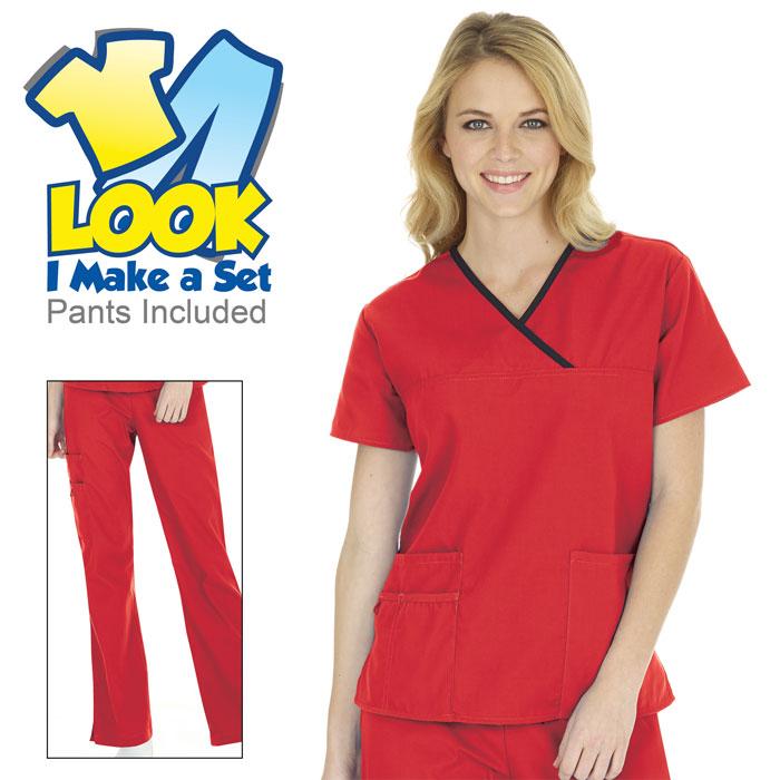 7814-Ladies-Y-Neck-Scrub-Set