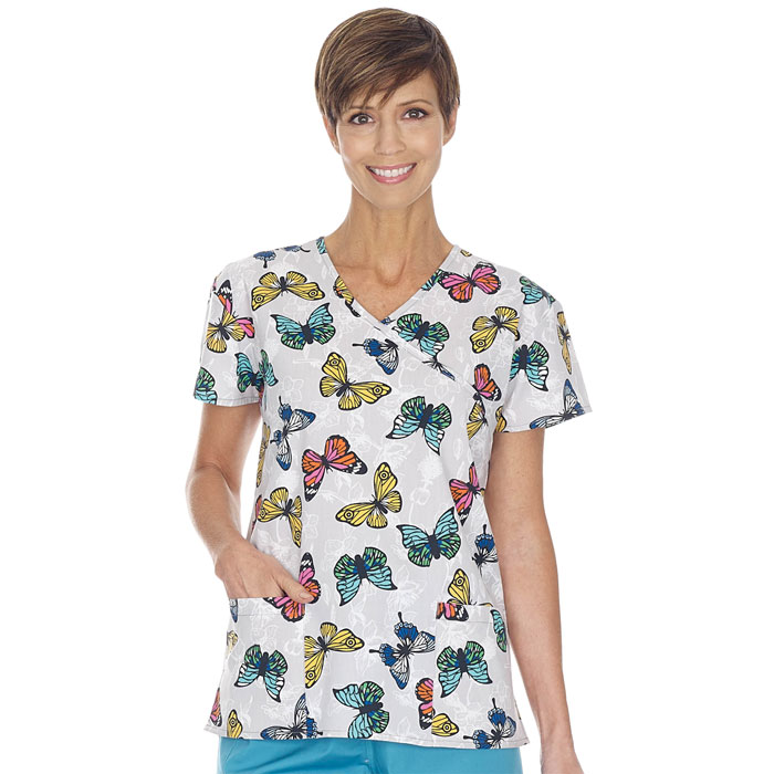 9100-1657--Ladies-Mock-Wrap-Top-STAINED-GLASS