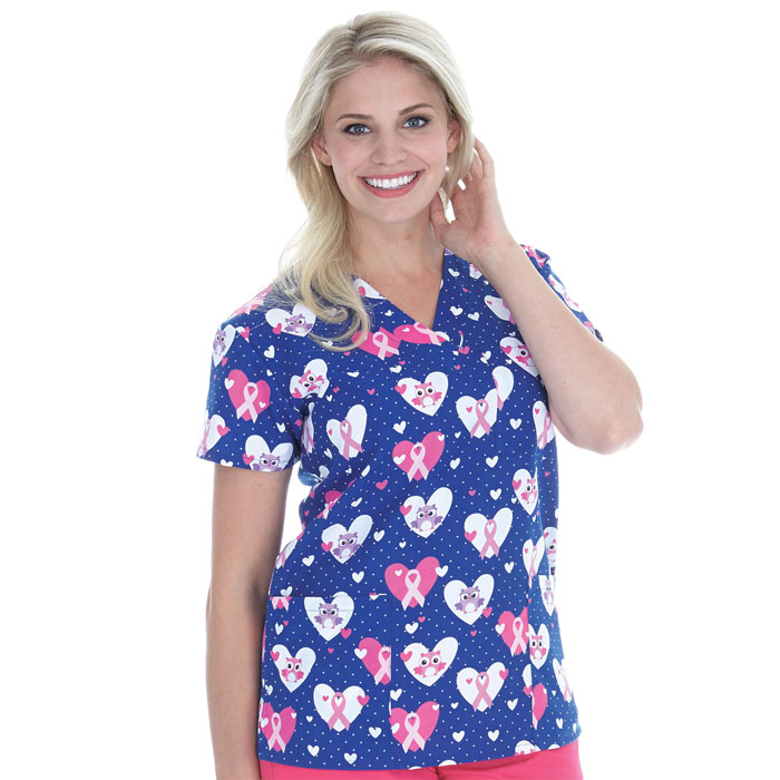 9904-1394-Ladies-3-Pocket-V-Neck-Top-Dottie-and-Hoot