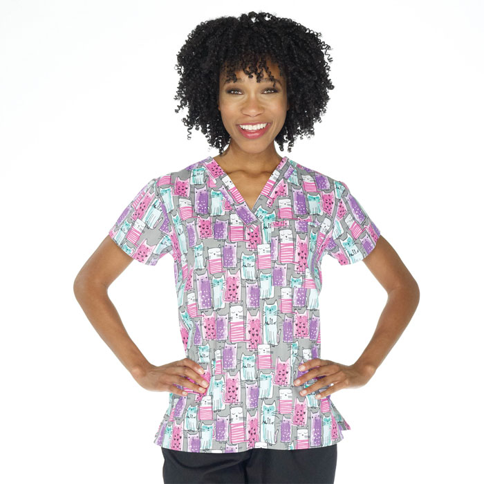 9904-1464-Ladies-3-Pocket-V-Neck-Top-Purr-ific