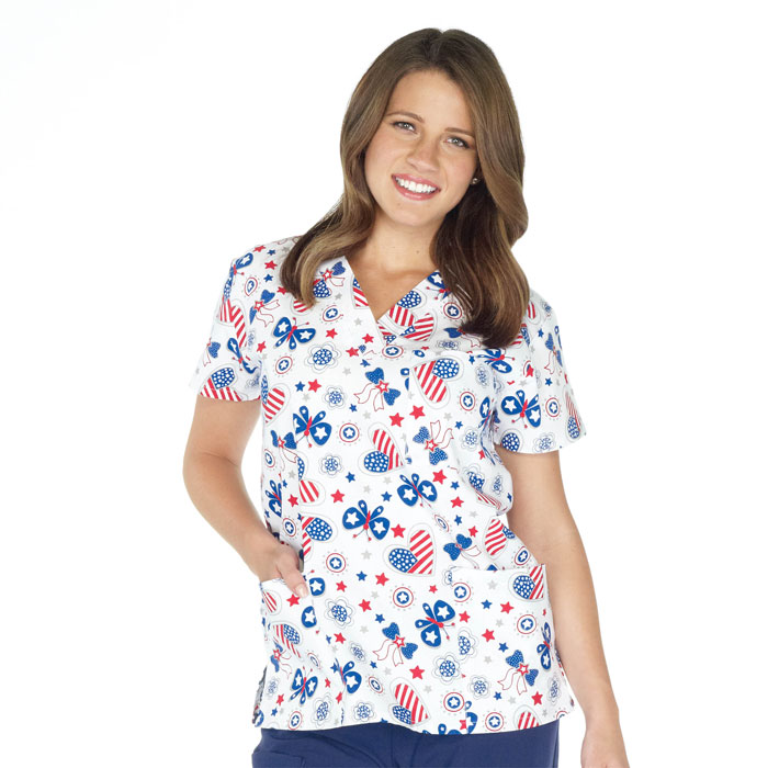 9904-1471-Ladies-3-Pocket-V-Neck-Top-Free-Your-Heart