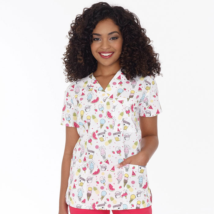 9904-1588-Ladies-3-Pocket-V-Neck-Top-Summer-Treats