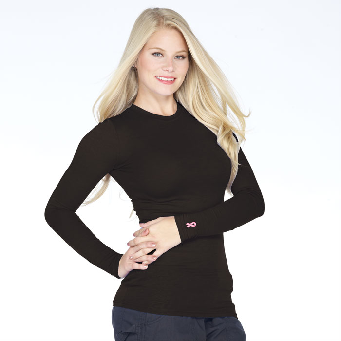 T2100E-Ladies-Long-Sleeved-Tee-with-Breast-Cancer-Ribbon-Embroidery