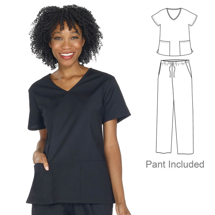 VT525C - Ladies Vital Threads Scrub Set