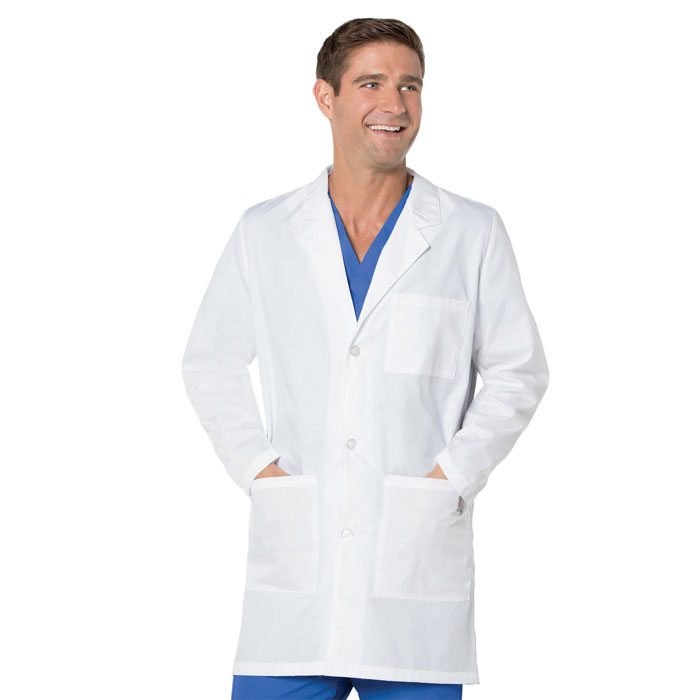 Landau-ScrubZone-Unisex-Three-Button-Lab-Coat-86002