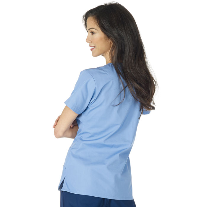 566a58caa51 F3 Fundamentals Smiley Pocket Scrub Top | Scrubin.com