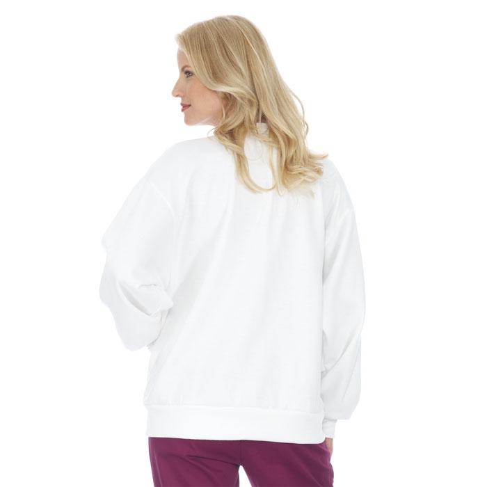 4500-WH - Fleece Cardigan - Ladies - Jacket - Fleece at Scrubin.com