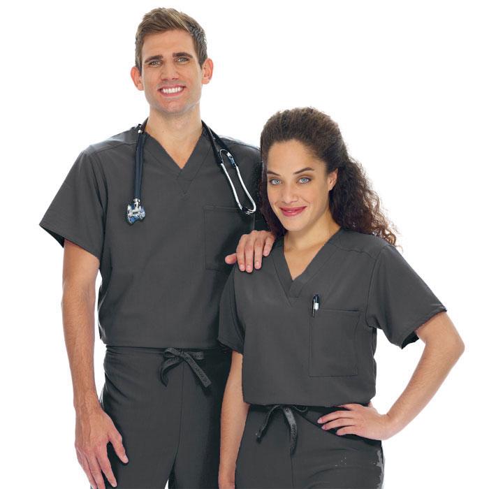 jockey-unisex-tri-blend-scrub-top-1-pocket