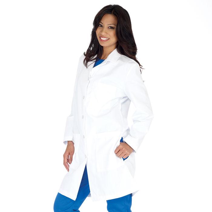 Meta, Womens Standard Length Lab Coat