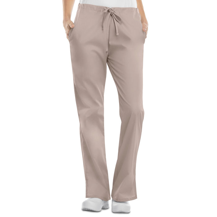 9d073565768 Cherokee Workwear - Natural Rise Flare Leg Drawstring Pant