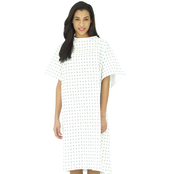 White Swan - 45252-KEY - Patient Gown at Scrubin.com