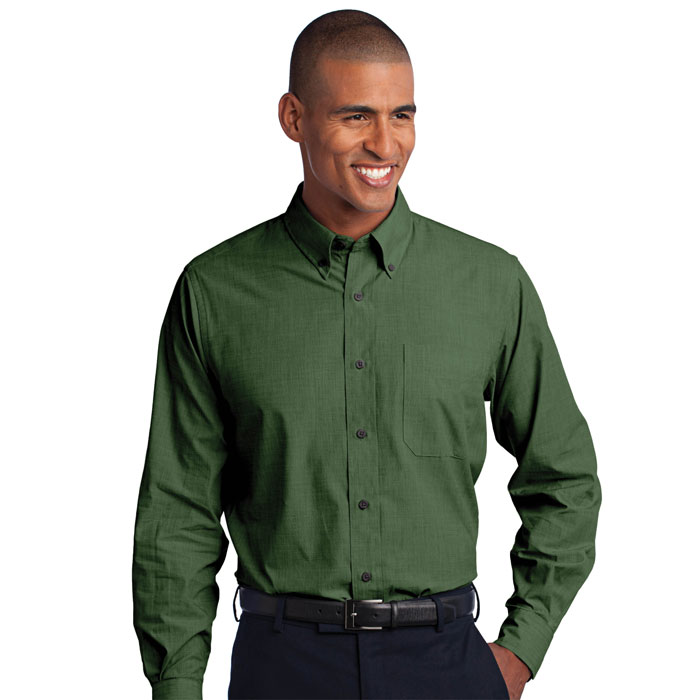 Port-Authority-S640-Mens-Crosshatch-Easy-Care-Shirt