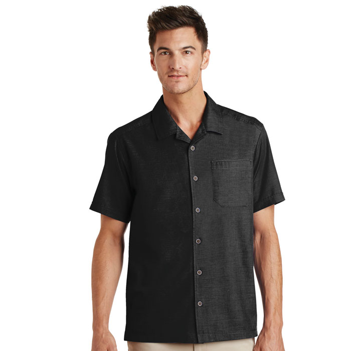 Port-Authority-S662-Mens-Textured-Camp-Shirt