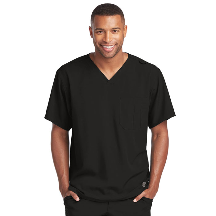 Skechers-SK0112-Mens-Structure-V-Neck-Chest-Pocket-Scrub-Top