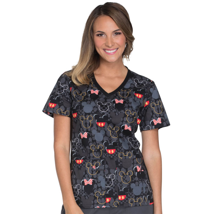 Tooniforms-TF636-MKBB-V-Neck-Scrub-Top-Buttons-and-Bows