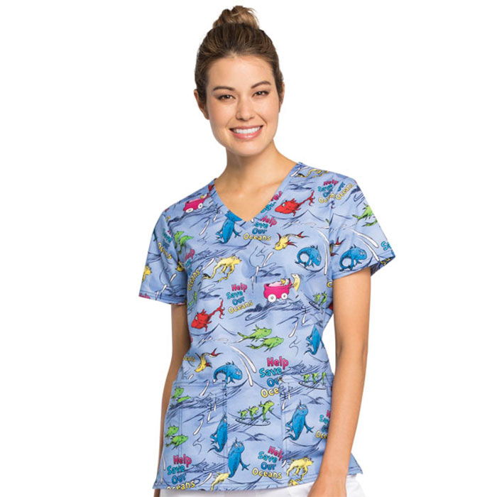 Tooniforms-TF638-SESO-V-Neck-Scrub-Top-Save-Our-Oceans