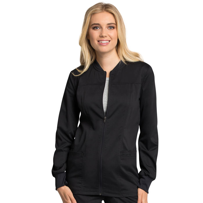 Workwear Revolution Tech, WW305AB, Zip Front Scrub Jacket With Certainty