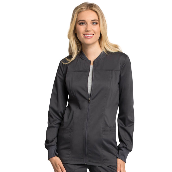 Workwear-Revolution-Tech-WW305AB-Zip-Front-Scrub-Jacket-With-Certainty