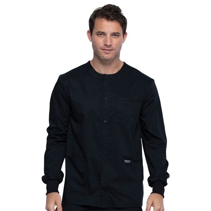Workwear-Revolution-WW380-Mens-Snap-Front-Warm-up-Jacket