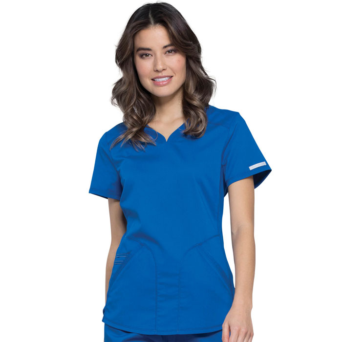 Workwear-Revolution-WW601-Ladies-V-Neck-Top