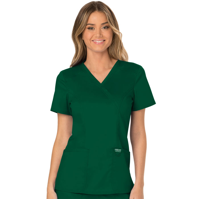 Workwear-Revolution-WW610-Mock-Wrap-Top