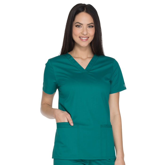 Cherokee-Core-Stretch-WW630-V-Neck-Top